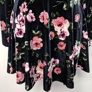 Bethany Mota Dresses - Bethany Mota Floral Velvet Dress